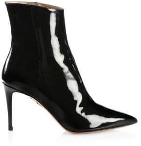 Aquazzura Alma Patent Point Toe Boots