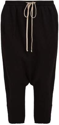 Rick Owens Cashmere Dropped Crotch Sweatpants
