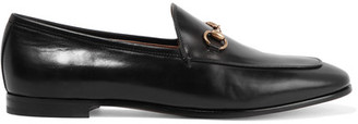 Gucci - Horsebit-detailed Leather Loafers - Black $695 thestylecure.com