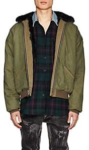 Fear Of God Men's Faux-Fur-Lined Cotton Bomber Jacket-Green