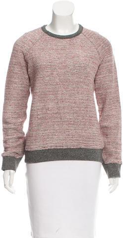 Alexander WangT by Alexander Wang Long Sleeve Scoop Neck Sweater