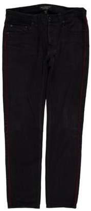 Burberry Low-Rise Side Stripe Jeans Black Low-Rise Side Stripe Jeans