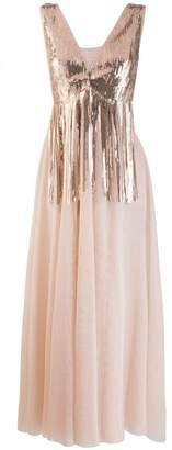 Soallure SO ALLURE sequin embellished tulle dress