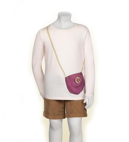Gucci Girl's 1973 Bag Print Long Sleeve Tee