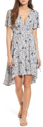 Women's Astr The Label Adeline Floral Print Wrap Dress $110 thestylecure.com