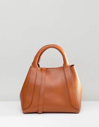 Asos DESIGN mini tuck side bonded shopper bag