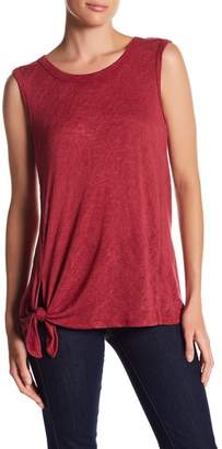 Bobeau Tie Front Muscle Tank $38 thestylecure.com