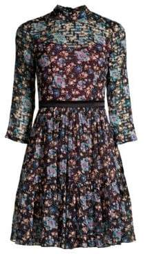 Rebecca Taylor Solstice Floral Fit-And-Flare Dress
