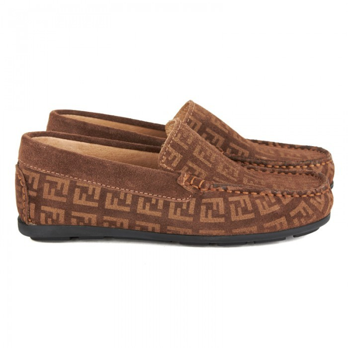 Fendi Brown Monogram Loafers