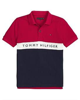 Tommy Hilfiger Essential Colorblock Stripe Polo (Boys 8-14 Years)