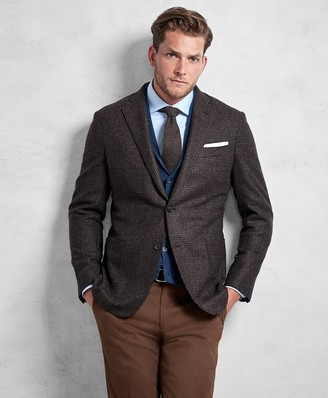 Brooks Brothers Golden Fleece Brown Rust Texture Sport Coat