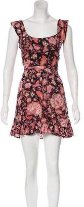 Reformation Mini Floral Dress