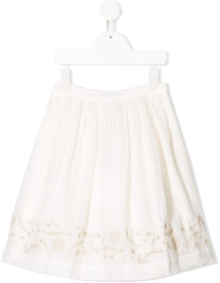Bonpoint white floral skirt