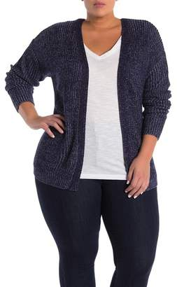 Planet Gold Lace-Up Back Cardigan (Plus Size)