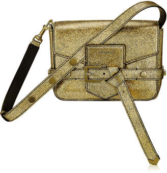 Jimmy Choo LEXIE/S Gold Metallic Goat Leather Cross Body Bag