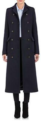 Barneys New York Women's Military Long Coat-NAVY $1,595 thestylecure.com