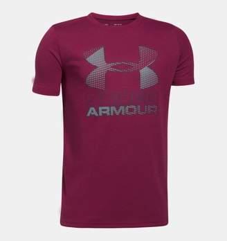 Under Armour Boys' UA Hybrid Big Logo T-Shirt