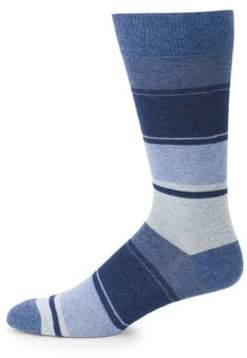 Saks Fifth Avenue Blended Striped Crew Socks