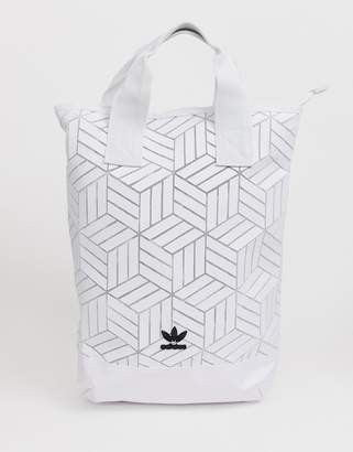 adidas geometric 3D roll top backpack