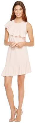 Donna Morgan Sleeveless Asymmetrical Ruffle Dress Women's Dress