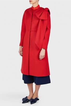 DELPOZO Fitted Coat with Bow