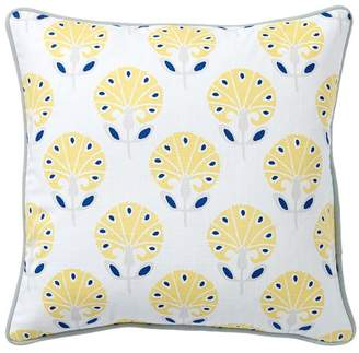 Pottery Barn Teen Daylily Pillow Cover, 16x16, Yellow Multi