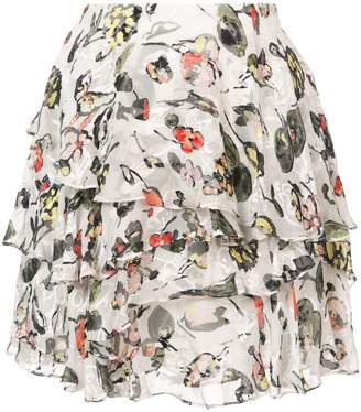 Jason Wu GREY flared floral mini skirt