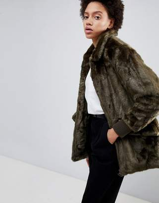 Parka London Jade Teddy Faux Fur Coat