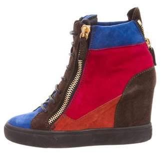 Giuseppe Zanotti Colorblock Wedge Sneakers