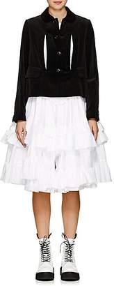 Comme des Garcons Women's Velvet Jacket & Ruffled Cotton Dress - Black