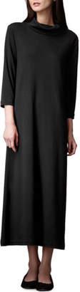 Joan Vass Turtleneck Maxi Dress, Petite, Black