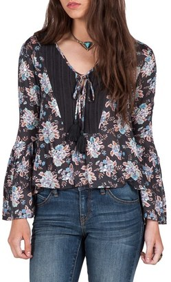 Volcom Salty Free Bell Sleeve Peasant Top $55 thestylecure.com