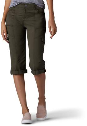Lee Women's Relaxed Fit Skye Knit Waist Cargo Capri Pant