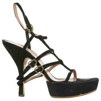 Alaia Black Suede Heels