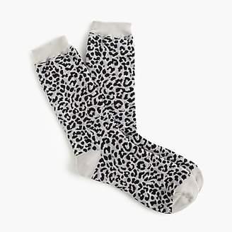 J.Crew Trouser socks in leopard