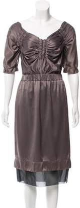 Marc Jacobs Gathered Midi Dress