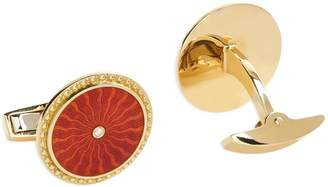 Deakin & Francis Gold Diamond Enamel Cufflinks