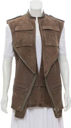 Haider Ackermann Leather Layered Vest