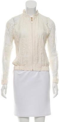 La Perla Lace Bomber Jacket $230 thestylecure.com