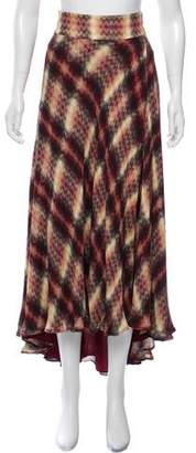 Haute Hippie Silk Printed Midi Skirt