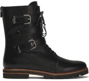 Stuart Weitzman Buckled Leather Boots