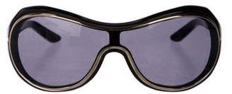 Valentino Tinted Shield Sunglasses