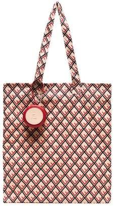 Fendi red Help bag charm with foldaway tote