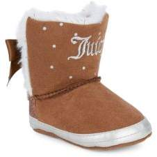 Juicy Couture Baby's Faux Fur-Lined Bow Booties