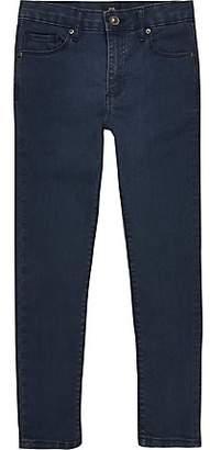 River Island Boys dark blue Danny super skinny jeans