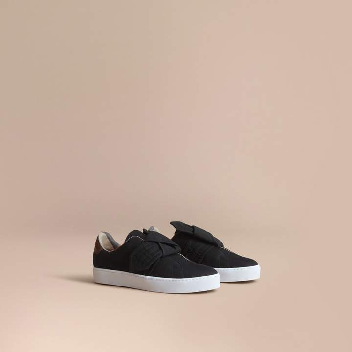 Burberry Trench Knot Cotton Gabardine Trainers