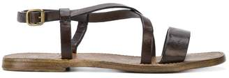 Silvano Sassetti cross strap sandals