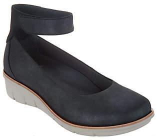 Dansko Leather Slip-on Shoes w/ Ankle Strap -Jenna