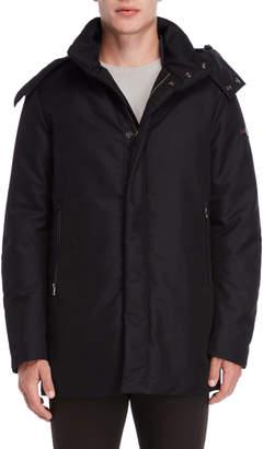 Peuterey Black Hooded Down Coat
