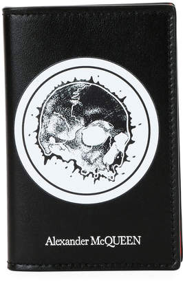 Alexander McQueen Men's Skull Graphic Leather Organizer Wallet